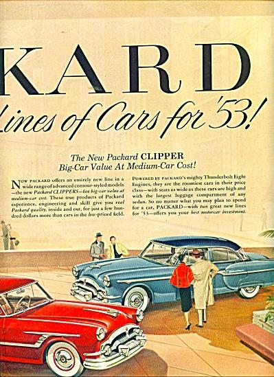 1953 PACKARD CLIPPER Car AD 2 pg (Image1)