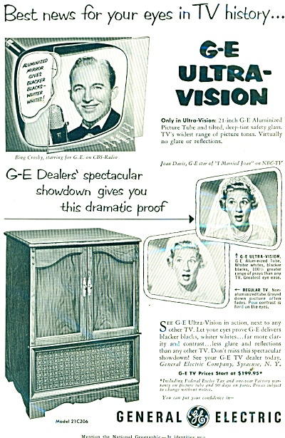 General Electric TV  BING CROSBY  ad 1953 (Image1)