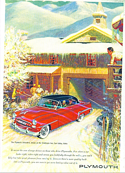Plymouth Motor car ad - 1953 BELVEDERE (Image1)