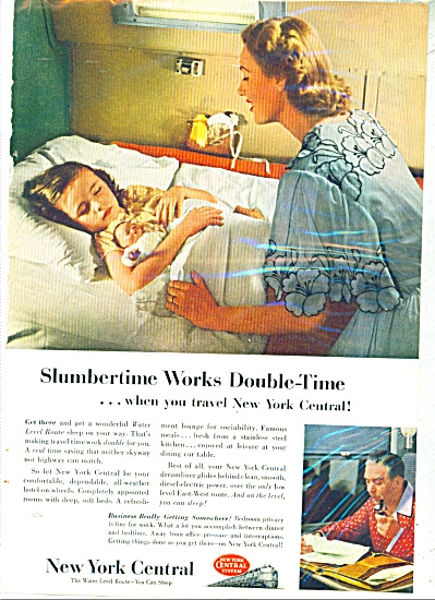 1953 New York Central Railroad AD Girl - Doll (Image1)