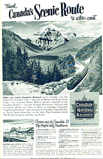 Canadian National Railways ad - 1953 (Image1)