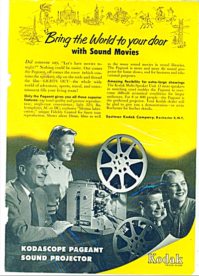 Eastman Kodak company projector - 1953 ad (Image1)