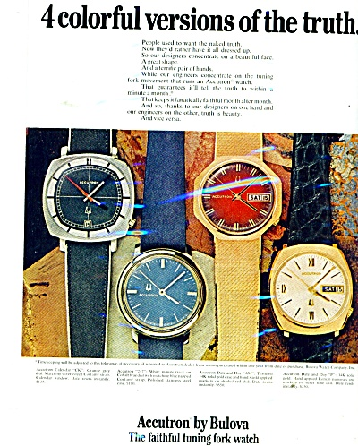 Accuatron by Bulova watches ad - 1971 (Image1)