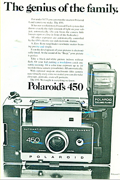 Polaroid's 450 camera. ad 1971 (Image1)