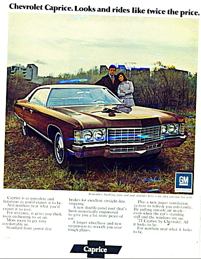 Chevrolet Caprice automobile ad - 1971 (Image1)