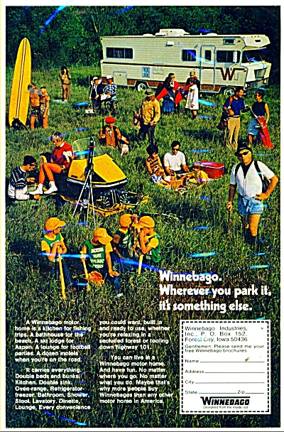 Winnebago Motor Home Ad 1971