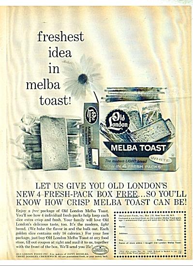 Old London Melba Toast ad - 1960 (Image1)