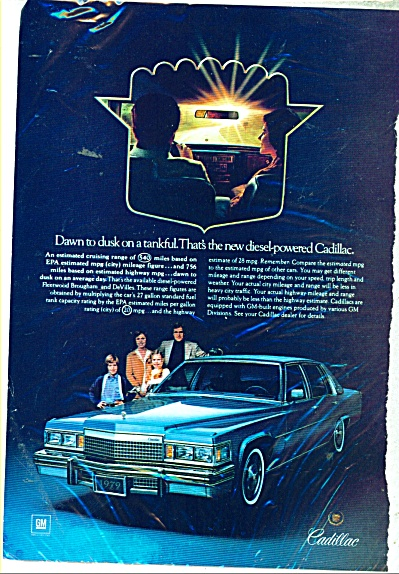 1979 Cadillac Fleetwood Brougham Deville Ad
