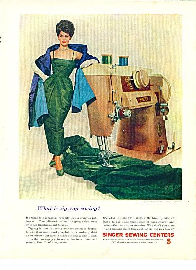 1960 SINGER AD Nina RICCI #1499 Pattern AD MO (Image1)
