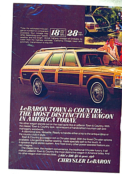 Chrysler LeBaron Town and Country wagon ad (Image1)