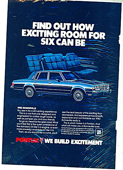 Pontiac Bonneville for 1983 ad (Image1)