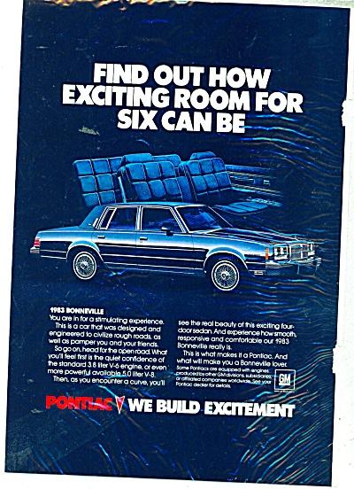 1963 Pontiac Bonneville Original CAR Promo AD (Image1)