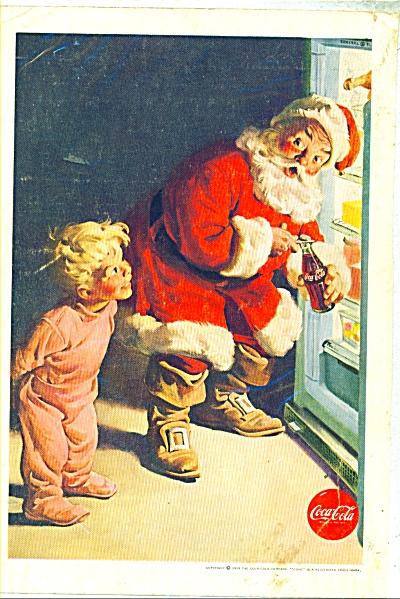 1959 Coke SANTA CLAUS Coca Cola AD (Image1)