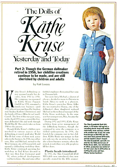 The Dolls of Kathe Kruse - yesterday andtoday (Image1)