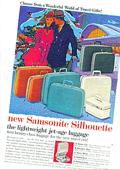 New Samsonite Silhouette luggage ad - 1959 (Image1)