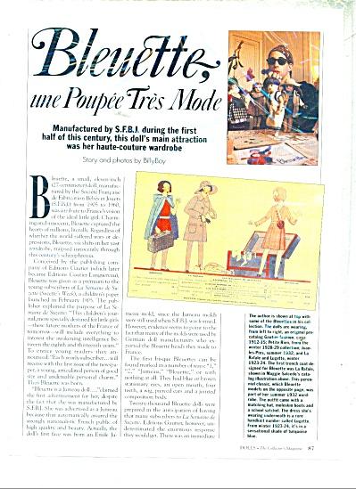 Bleuette, une poupee tres mode ad - 1991 (Image1)