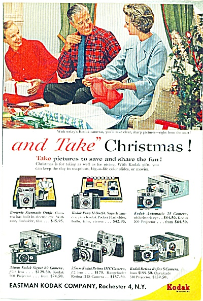 Kodak camera, projectors ad (Image1)