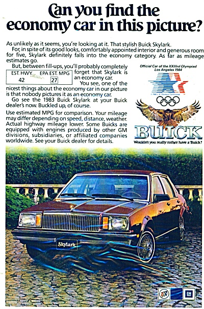 Buick Skylark for 1983 ad (Image1)