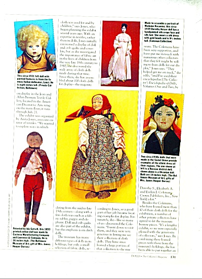 Fashioned of Fabric (dolls)  1991 ad (Image1)