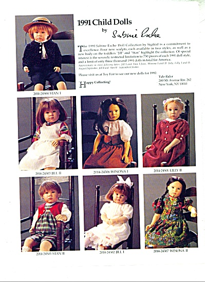 1991 Child Dolls by Sabine Esche ad 1992 (Image1)