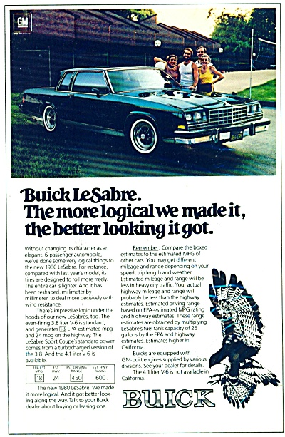 Buick LeSabre ad for 1980 (Image1)