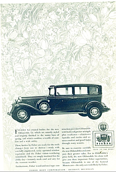 1931 Fisher Body AD Oldsmobile SIX CAR (Image1)