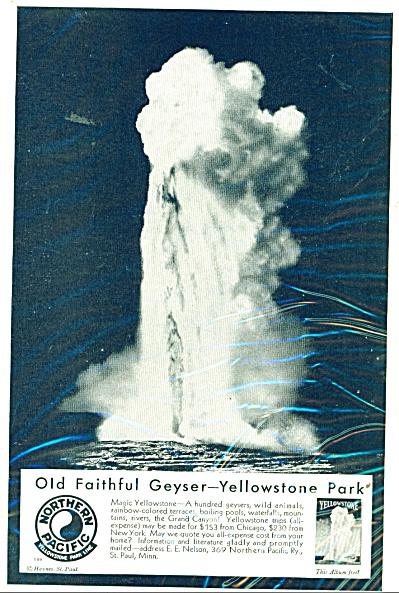 Old Faithful Geyser, Yellowstone Park - ad (Image1)