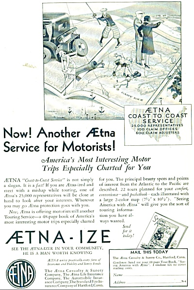 Aetna Casualty & Surety Co., Ad  1931 (Image1)
