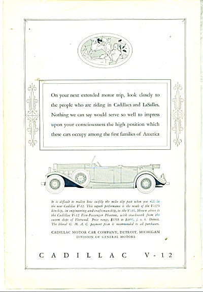 Cadillac V-12 automobile ad - 1931 (Image1)