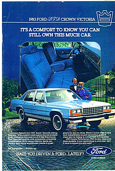 Ford Crown Victoria for 1983 ad (Image1)