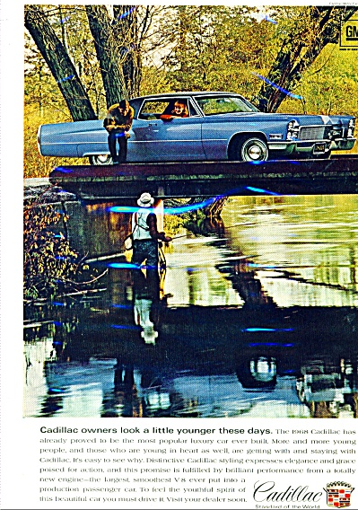 1968 Cadillac CAR Promo  AD MAN FISHING #2 (Image1)