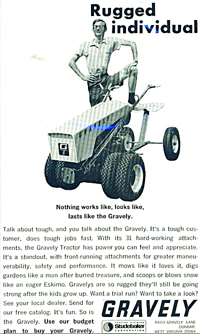 Gravely riding lawnmowers ad 1965 (Image1)