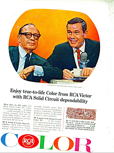 RCA Color  JACK BENNY 7 JOHNNY CARSON ad (Image1)