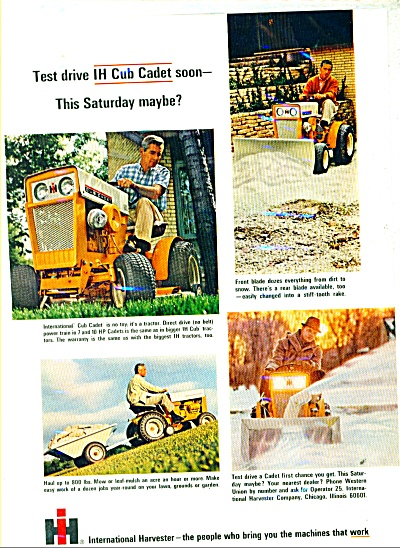 International Harvester Cadet Ad 1965