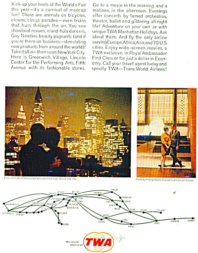 1965 TWA Airlines ad New York City (Image1)