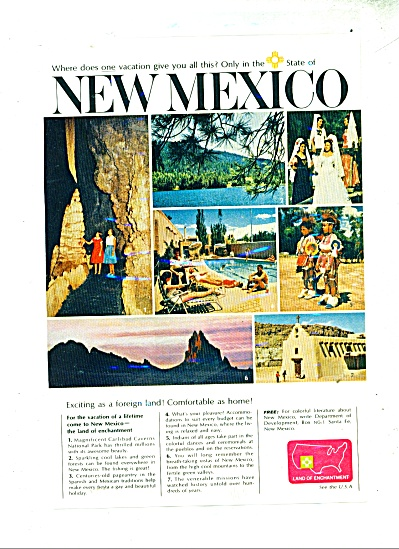 1965 New Mexico travel AD (Image1)