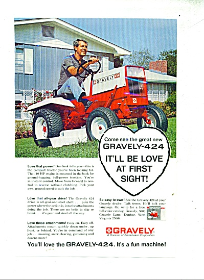 Graveley lawn tractor ad - 1966 (Image1)