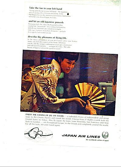 1968 Japan Air Lines Plane Ad