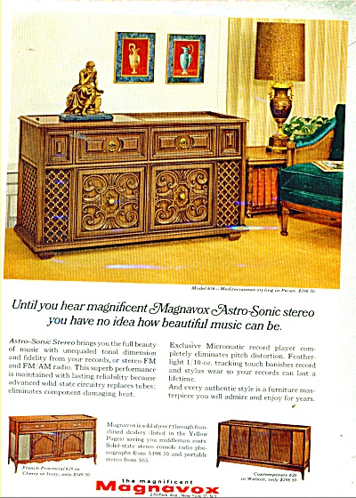 Magnavox astro sonic stereo ad - 1966 (Image1)