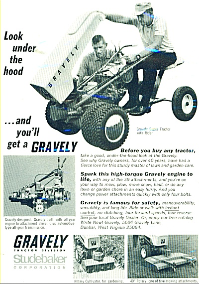 Gravely Tractor Division ad 1966 (Image1)