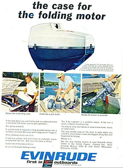 1966 Evinrude Boat Motor AD Folding Motor (Image1)