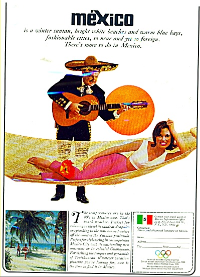 Mexico travel brochure ad 1966 (Image1)