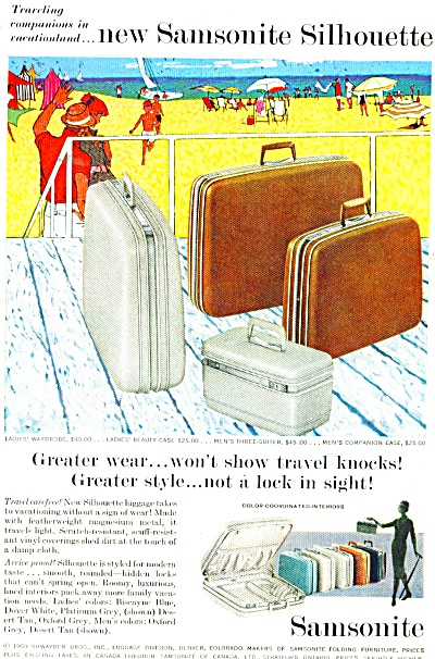 Sansonite luggage ad 1959 (Image1)