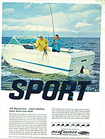 1966 MerCruiser BOAT AD Stern Power drive (Image1)