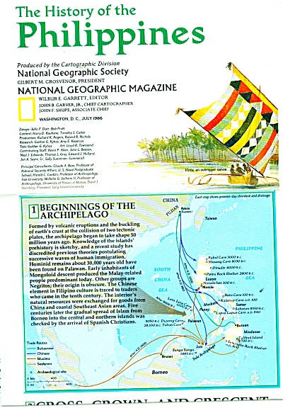 The History of the Philippine & map  1986 (Image1)