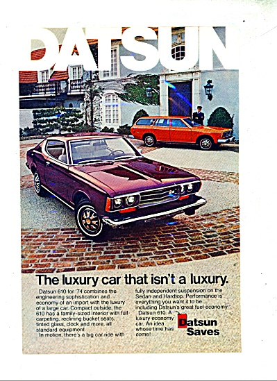 Datsun automobile for 1974 ad (Image1)