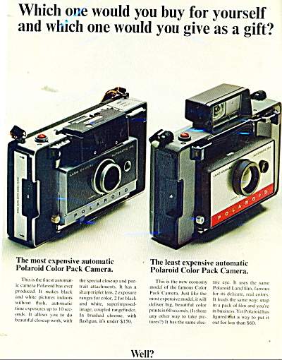 Polaroid color pack cameras ad 1966 (Image1)