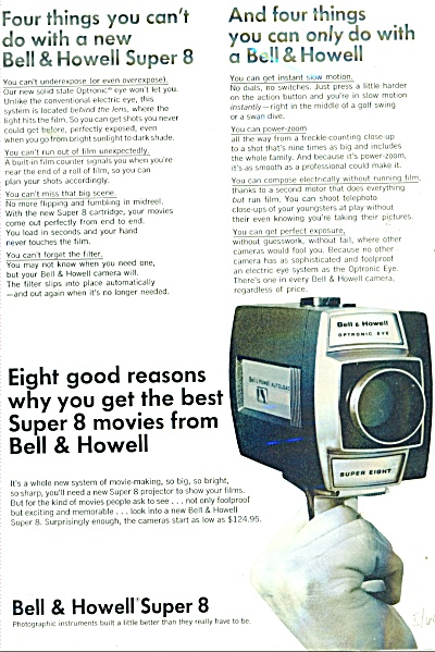 1966 Bell & Howell super 8 camera ad (Image1)