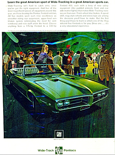 Pontiac widetracks for 1968 ad (Image1)