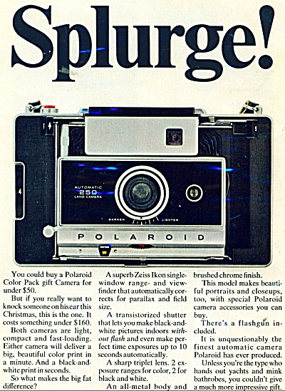 Polaroid color pack camera ad 1967 (Image1)